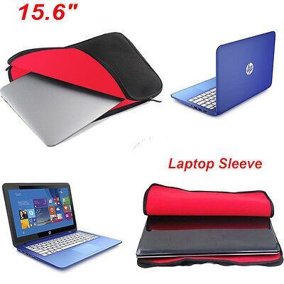 """15.6"""" Notebook Laptop Sleeve Cover Case Bag For HP DELL Toshiba Mac Sony Acer UK"""