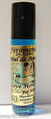 LOVE HONEY HIM  PHEROMONES IN OIL PERFUME 10mls ROLL ON Wicca Witch Pagan Spell