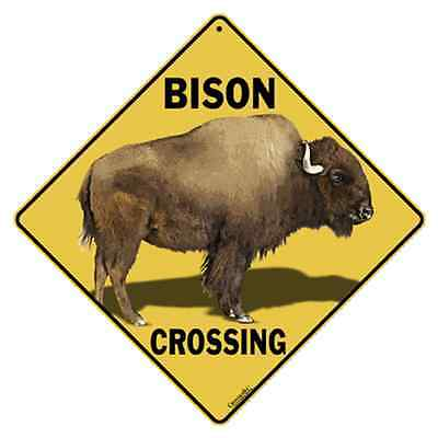 Bison Crossing Sign 12x12 NEW Metal Buffalo