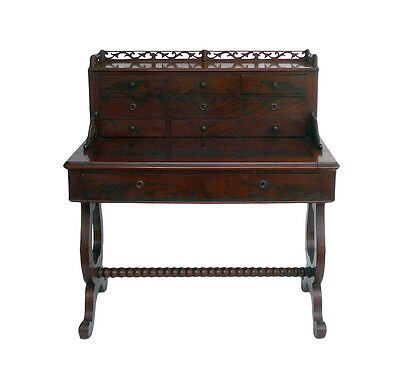 Antique European Writing Desk with Drawers and Pullout Top cs1029