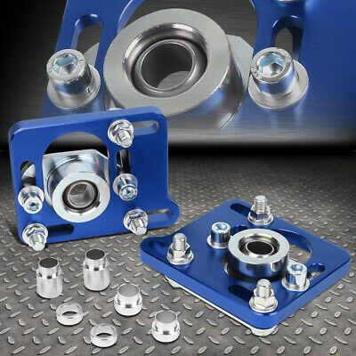 """+/-2.5""""adjustable Camber Caster Plate Coilover Alignment For 94-04 Mustang Blue"""