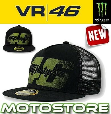 Vr46 Valentino Rossi Vrfortysix 46 Trucker Cap Official Hat Genuine Stone Washed