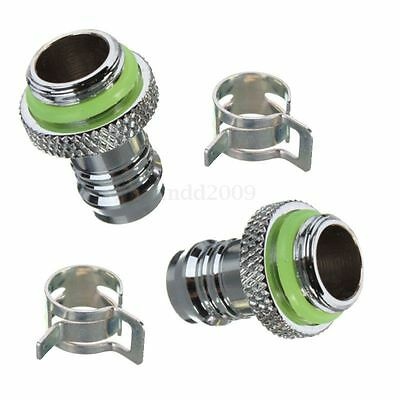 Useful Barb Fitting Water Cooling Radiator For 3/8'' ID Turbing G1/4 Chromed NEW