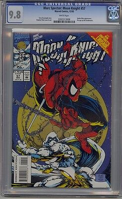 Moon Knight #57 Cgc 9.8 White Pages Infinity Crusadde Crossover Spider-Man Platt