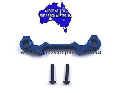 Alloy front body mount base for Axial Yeti 1:10 RC Truck.- Blue