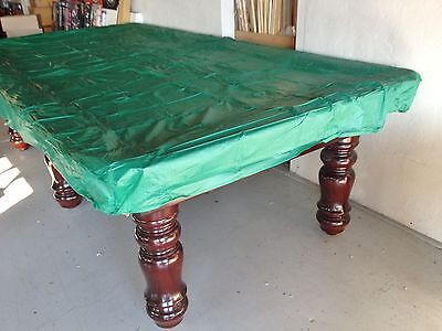 GREEN 8ft Fitted Plastic Pool Snooker Billiard Table Cover for 8' x 4 pool table
