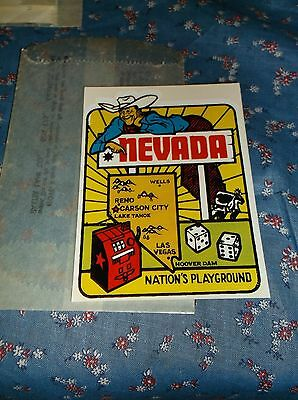 Vintage Dip Decal  Nevada Nation's Playground Map  Windshield Luggage