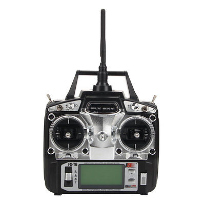 FlySky FS-T6 2.4G 6CH LCD Transmitter & Receiver for RC Helicopter Right Mode 1