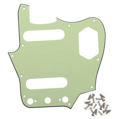 New 3Ply Mint Green FD Jaguar Electric Guitar Pickguard Scratch Plate & Screws