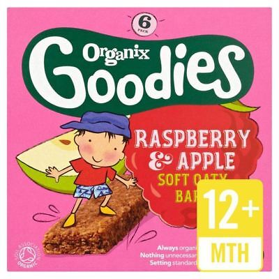 Organix Goodies Organic Raspberry & Apple Cereal Bars 6 x 30g