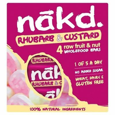 Nakd Free From Rhubarb & Custard Fruit & Nut Bar Multipack 4 x 35g