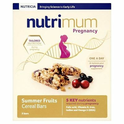 Nutrimum Summer Fruit Pregnancy Cereal Bar 5 x 40g