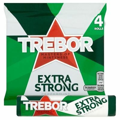 Trebor Extra Strong Peppermint Mints 4 x 41g