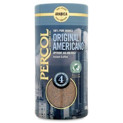 Percol Rainforest Alliance Americano Instant Coffee 100g