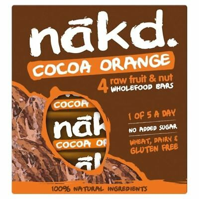 Nakd Free From Cocoa Orange Multipack 4 x 35g