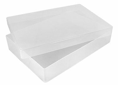 Clear Plastic Storage Boxes In 3 Sizes A4 Deep / A4 Slim / A5 Deep.