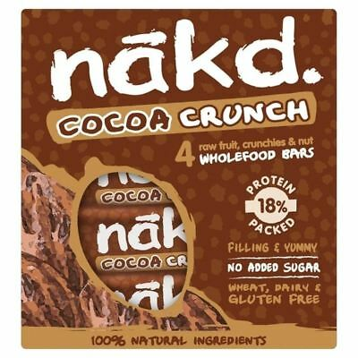 Nakd Free From Cocoa Crunch Fruit & Nut Bar Multipack 4 x 30g