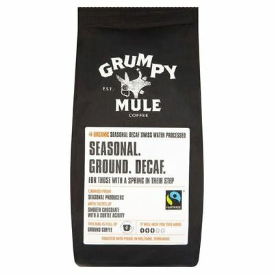 Grumpy Mule Organic Seasonal Swiss Water Decaff Ground Coffee 227g
