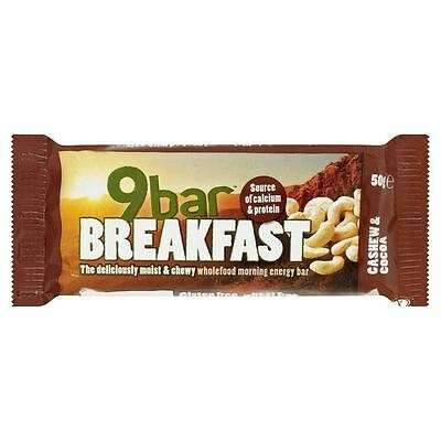 Wholebake 9Bar Gluten Free Breakfast Cashew & Cocoa 50g
