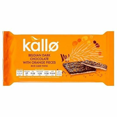Kallo Belgian Dark Chocolate & Orange Rice Cake Thins 71g