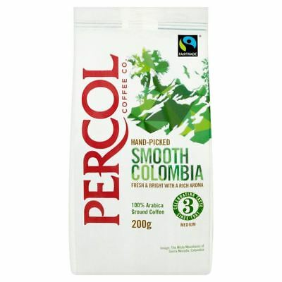Percol Fairtrade Colombia Ground Coffee 200g