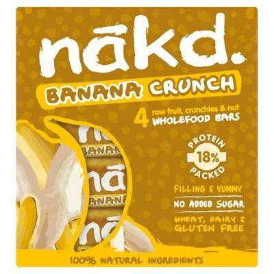 Nakd Free From Banana Crunch Fruit & Nut Bar Multipack 4 x 30g