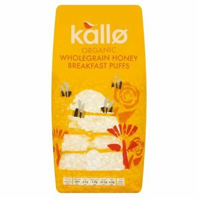 Kallo Gluten Free Organic Wholegrain Honey Breakfast Puffs 275g