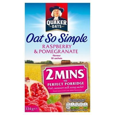 Quaker Oat So Simple Raspberry & Pomegranate 10 x 33.4g
