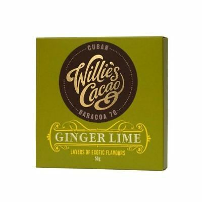 Willie's Cacao Dark Chocolate with Ginger Lime 50g