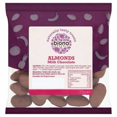 Biona Organic Almonds Milk Chocolate 70g