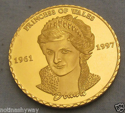 People Princess Diana Coin London Medal Gold United Kingdom Magnificent Keepsake