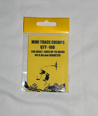 Mini Trace Crimps pack of 100 for lines up to 80lb or 0.80mm Dia - Pike, Sea