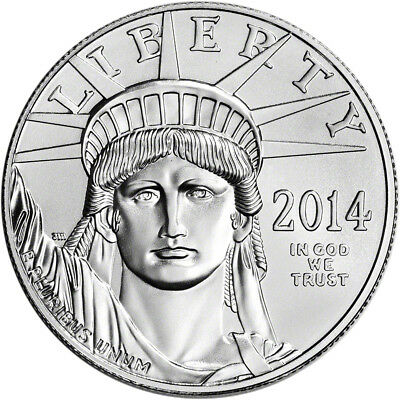 2014 American Platinum Eagle (1 oz) $100 - BU