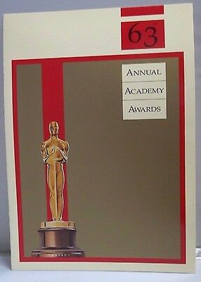 1991 Invitation For The 63rd Annual Academy Awards 3/25/91 Oscars