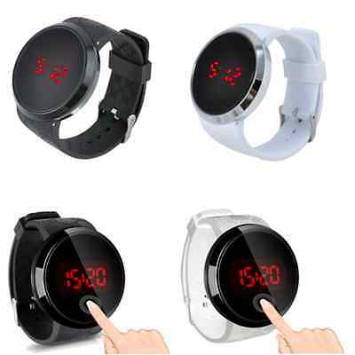 Charm Men Waterproof Digital LED Touch Screen Date Silicone Sport Wrist Watch FT