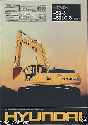 Equipment Brochure - Hyundai - Robex 450-3 LC-3 - Excavator (E2577)