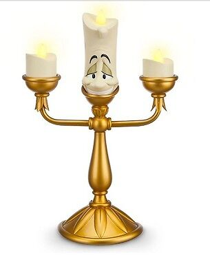 Disney Store Parks Beauty & Beast LUMIERE Light Up Candle Candelabra Figurine !!
