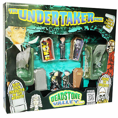 DEADSTONE VALLEY THE UNDERTAKER PACK Halloween Gift Set /w 5 Figures & 2 Graves