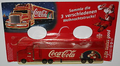 COCA COLA VINTAGE 17cm Truck Santa Claus Babbo Natale Christmans in Blister