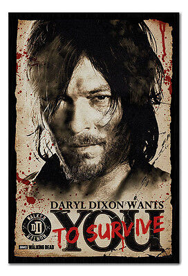Framed The Walking Dead Daryl Needs You Poster New