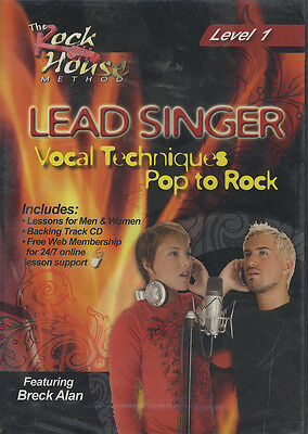 RRP 14.95 Lead Singer Vocal Techniques Pop to Rock DVD 1 Learn to Sing Tuition