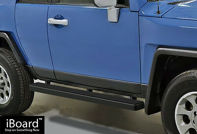 "Premium 5"" Black iBoard Running Boards Fit 07-14 Toyota FJ Cruiser"