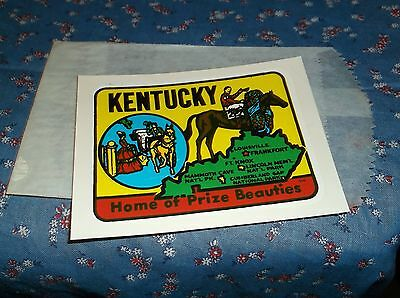 Vintage Dip Decal  Kentucky Home of Prize Beauties  Windshield Luggage