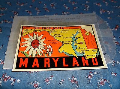 Vintage Dip Decal  Maryland The Free State  Windshield Luggage