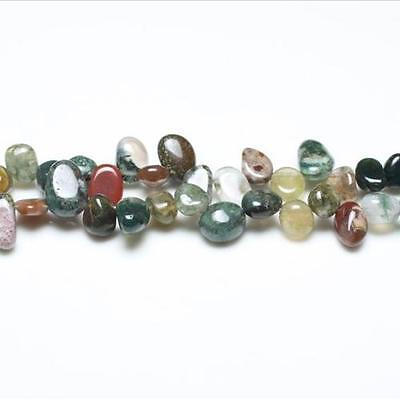 Strand Of 42+ Mixed Fancy Jasper 10-14mm Drop-Style Chip Beads GS5220