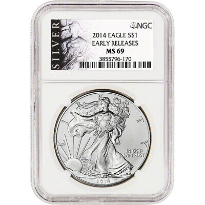 2014 American Silver Eagle - NGC MS69 - Early Releases - ALS Label