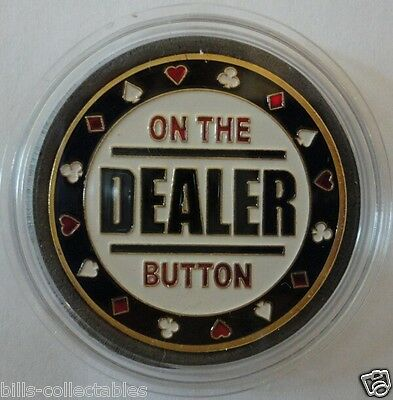 DEALER BUTTON gold color Poker Card Guard Protector