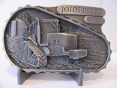 John Deere 8400T Track Tractor Pewter Belt Buckle 1999 Limited Edition 1/5000