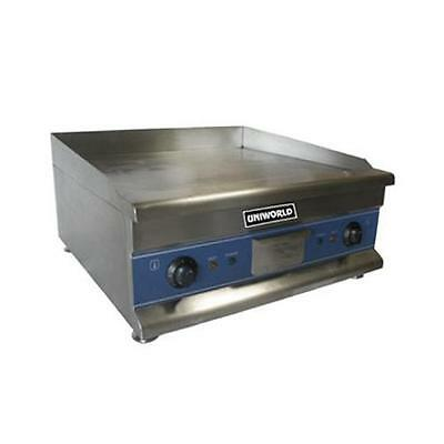 """Uniworld - UGR-CH24 - Economy 24"""" Electric Countertop Griddle - Flat Top Grill"""