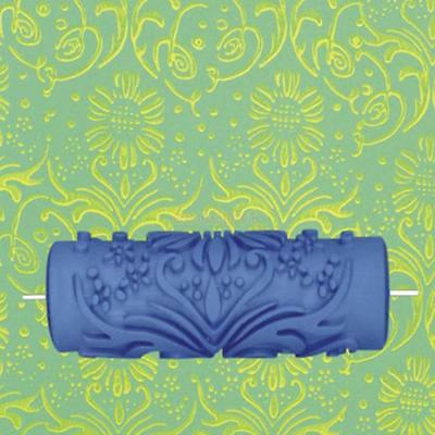 15cm Empaistic Flower Pattern Paint Painting Roller for Home Wall Decoration DIY